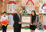 """Kỷ lục """"Nhà bánh gừng lớn nhất Việt Nam"""" đã được xác lập"""