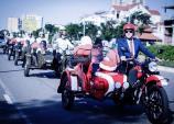 """Dàn """"xế độc"""" 3 bánh sidecar Ural rước dâu tại Đà Nẵng"""