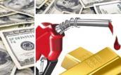 Cuối tuần, vàng đảo chiều tăng nhẹ, trong khi USD và dầu thô đều giảm