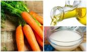 Tạm biệt vết nám đơn giản với cà rốt, dầu ăn và nước vo gạo