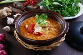 Đậu hũ kho cà chua trứng - món chấm rau cho ngày chay