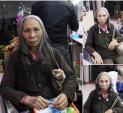 Bà cụ bán rong được uốn tóc, làm đẹp miễn phí khiến dân mạng xúc động
