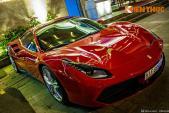 Ferrari 488 GTB trị giá 15 tỷ đỏ rực trên phố Sài Gòn
