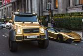 Dàn siêu xe triệu đô dát vàng gây