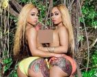 Cặp chị em người mẫu có bộ mông 1,2 mét nhờ squat