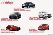 Top 10 ô tô bán chạy nhất tháng 4 ở Việt Nam