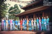 Thí sinh Hoa Hậu Biển đẹp lung linh trong tà áo dài thắng cảnh Việt Nam