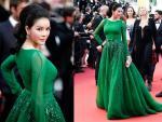 Lý Nhã Kỳ hóa công chúa tóc mây trên thảm đỏ Cannes