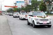 """Hơn 60 xe sang tiền tỷ """"rầm rộ"""" rước dâu tại Quảng Ninh"""