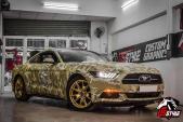 """""""Bọ cánh cứng"""" Ford Mustang camo siêu chất tại VN"""