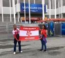 Hình ảnh 2 CLB V.League xuất hiện ở khán đài Euro 2016