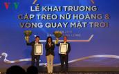 Quảng Ninh: Khánh thành cáp treo Nữ Hoàng 2 kỷ lục Guinness thế giới