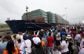 Kênh đào Panama mở rộng đón tàu container đầu tiên