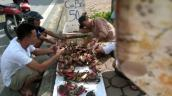 Giật mình cua biển giá siêu rẻ bày bán tràn lan trên vỉa hè Hà Nội