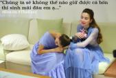 Phạm Hương cúi gập người năn nỉ Hồ Ngọc Hà trên sóng truyền hình
