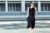 Fashionista Thanh Trúc diện váy lụa xuống phố