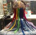 Xu hướng tóc cầu vồng như một bữa tiệc thị giác