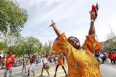 Lễ hội đường phố náo nhiệt mừng Ngày Lao động ở Mỹ