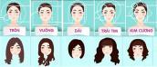 Cách chọn kiểu tóc phù hợp với từng dáng mặt xinh lung linh cho bạn gái