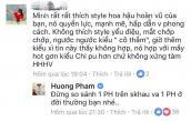 Phản ứng của Phạm Hương khi bị chê