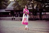 Ngọc Hân duyên dáng với áo dài trên đất Nhật Bản