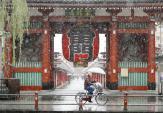 Tokyo đón tuyết tháng 11 sau hơn 50 năm