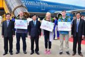 Việt Nam đón hơn 10 triệu lượt khách quốc tế trong năm 2016