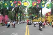 Tuyến đường mùa xuân nổi bật giữa Sài Gòn