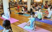 Tận dụng giờ nghỉ trưa, chị em công sở rủ nhau đi tập yoga, aerobic