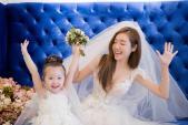 Dù hai con, Elly Trần diện váy cưới vẫn đẹp không kém ai