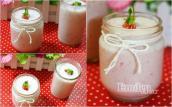Sữa dâu tây chua ngọt, thơm phức, bé thích mê