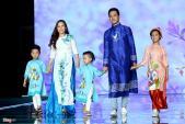 MC Phan Anh cùng vợ và các con làm người mẫu