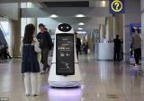 Robot tự hành hiện đại như phim viễn tưởng ở sân bay Hàn Quốc