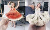 Ngộ nghĩnh trang phục cho bé từ... hoa quả và rau củ