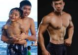 9X tăng 17 kg vẫn sở hữu cơ bụng 6 múi