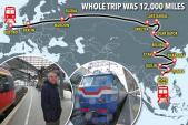 Cặp đôi đi từ châu Âu sang châu Á bằng phương tiện công cộng