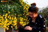 Ngắm vườn hoa Tết tuyệt đẹp ở ngoại thành Hà Nội