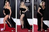Diện đầm xẻ cao gợi cảm, Rita Ora gặp sự cố trên thảm đỏ Grammy 2018
