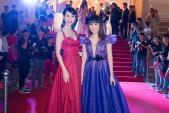 Hoa hậu Hằng Nguyễn diện đầm tím cực hot đọ sắc cùng Á hậu Liên Phương