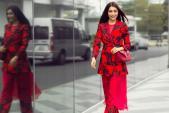 Chỉ dạo phố cuối tuần mà Á hậu Lệ Hằng diện đến 6 chiếc váy đỏ rực cả góc trời