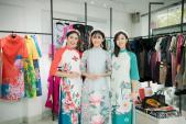 Hoa hậu Ngọc Hân, Mỹ Linh, Thanh Tú duyên dáng với áo dài lấy cảm hứng từ các loài hoa