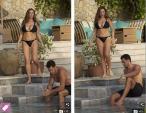 """Kelly Brook khoe thân hình """"bốc lửa"""" với bikini, sánh đôi bên bạn trai"""