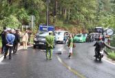 Xe máy đối đầu ôtô trên đèo Prenn, một người thiệt mạng