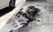 Người vi phạm đốt xe trước mặt CSGT khi bị chặn lại vì đi ngược chiều