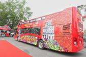Xe buýt 2 tầng đầu tiên của Hà Nội được đưa vào sử dụng