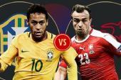 Xem bóng đá trực tuyến Brazil vs Thụy Sĩ, World Cup 2018