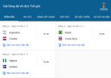 Lịch thi đấu World Cup 2018 hôm nay 22/6: Brazil gặp đội tuyển Costa Tica