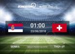 Link xem trực tiếp bóng đá World Cup 2018 Serbia vs Thụy Sĩ tốt nhất