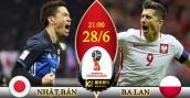 Xem trực tiếp bóng đá World Cup 2018 Nhật Bản vs Ba Lan tốt nhất