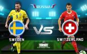 Link xem trực tiếp bóng đá Thụy Điển vs Thụy Sỹ, vòng 1/8 World Cup 2018 lúc 21h00 ngày 3/7